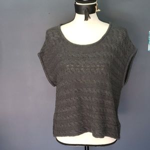 American apparel gray cotton knitted sweater